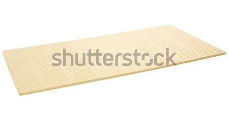Látex flexível camada colchão isolado branco Foto stock © JohnKasawa