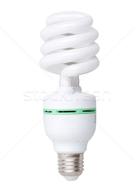 Save energy light bulb spiral type isolated  Stock photo © JohnKasawa
