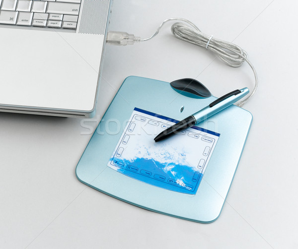 The pen tablet pad more convenience to use than mouse Stock photo © JohnKasawa