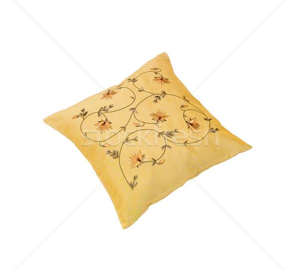 Soft and warm yellow pattern flower cusion isolates on white  Stock photo © JohnKasawa