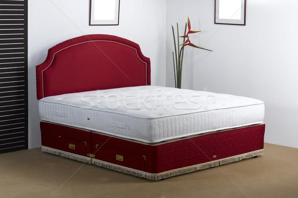 Luxury bedding mattress in a set up bedroom atmosphere Stock photo © JohnKasawa