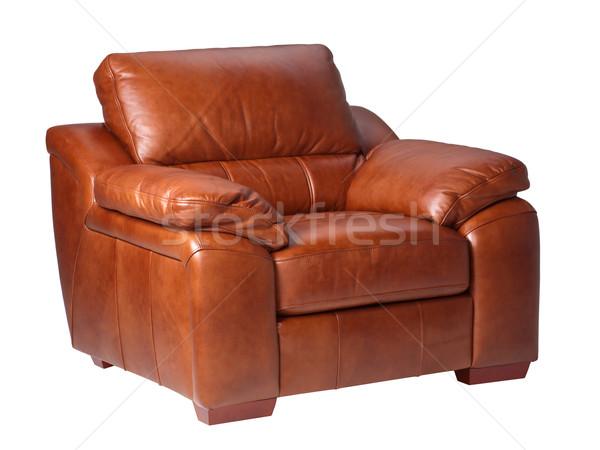 Light brown classic luxury leather sofa Stock photo © JohnKasawa