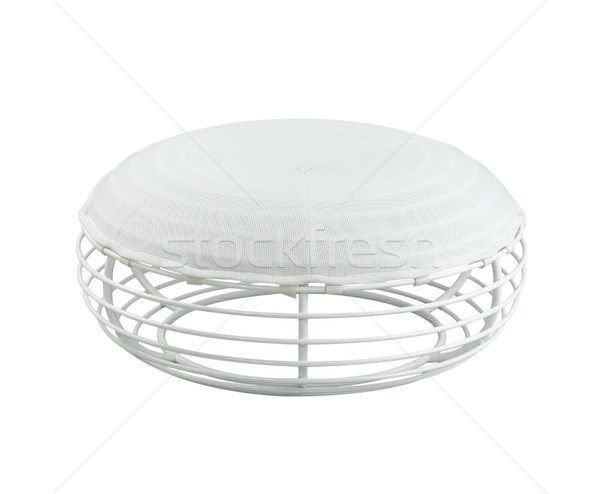 Unique design of the metal stool with fabric and white steel col Stock photo © JohnKasawa