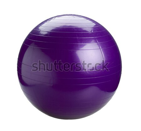 Violet gyms ball or yoga ball isolated Stock photo © JohnKasawa