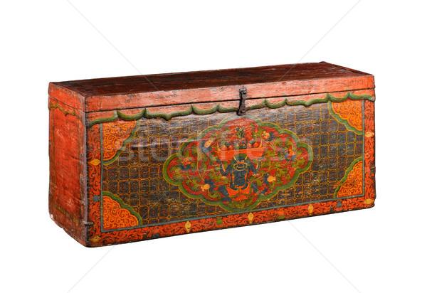 Tibetan stuff ancient box isolated on white  Stock photo © JohnKasawa