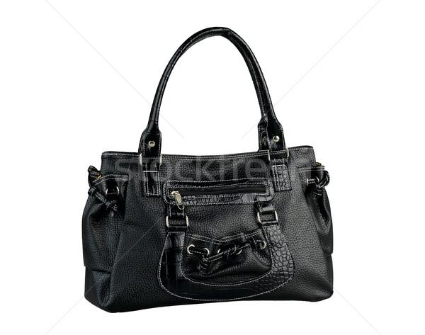 Nice design of black lady handbag isolated on white background  Stock photo © JohnKasawa