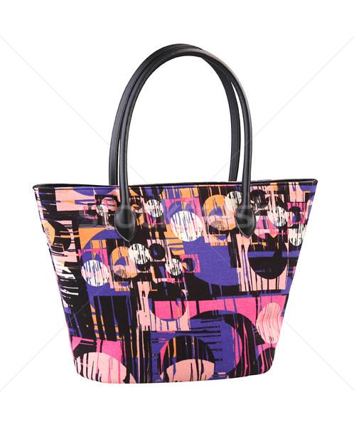 Colorful lady pattern handbag isolates  Stock photo © JohnKasawa