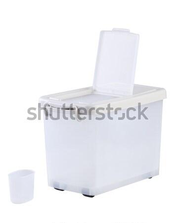 Transparent plastic container box Stock photo © JohnKasawa