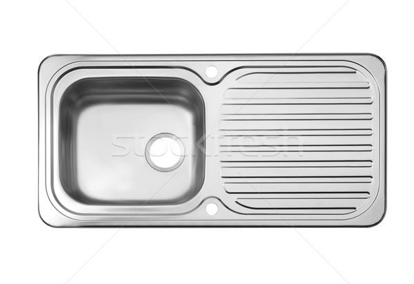 Felső kilátás üres mosdókagyló szükséges konyhai felszerelés Stock fotó © JohnKasawa