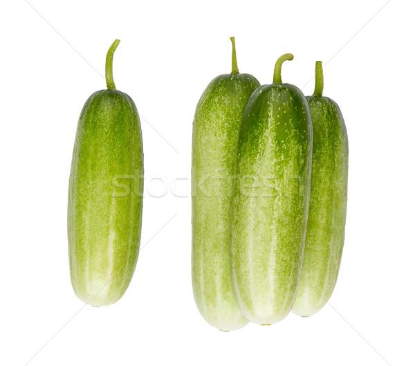 cucumber high ingredient and vitamins isolates on white  Stock photo © JohnKasawa