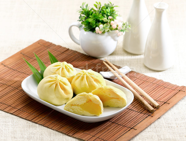 Dumpling with cream a great taste of Chinese food style  Stock photo © JohnKasawa