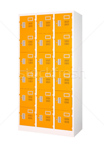Beautiful and colorful locker in bright orange color isolates Stock photo © JohnKasawa