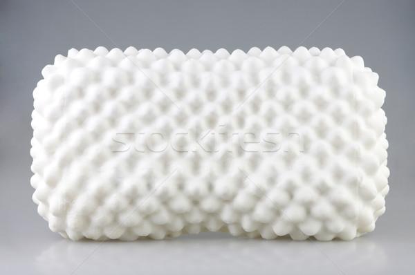 Látex materialismo dentro higiênico travesseiro poeira Foto stock © JohnKasawa