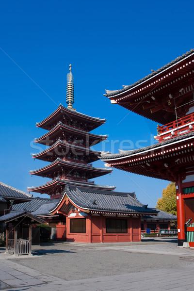 Templo Tóquio Japão cedo Foto stock © JohnKasawa