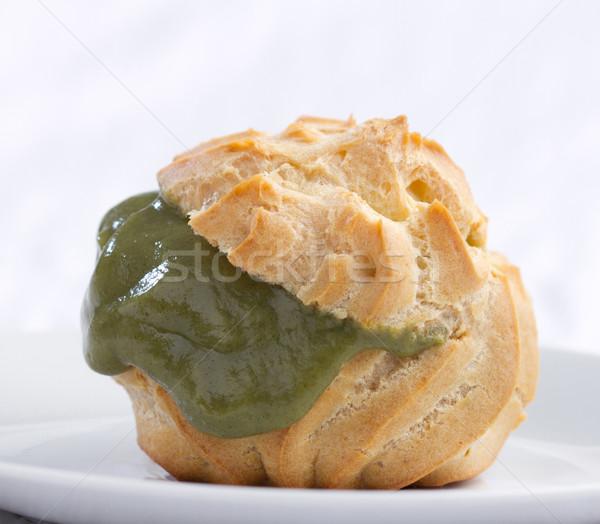 Choux cream green tea flavor mesh and ready to serves  Stock photo © JohnKasawa
