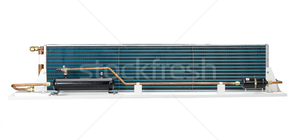 The radiator unit to use in the air condition in the bus covered Stock photo © JohnKasawa