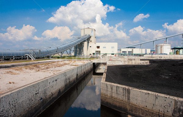 Water in the concrete canal flowing to waste water systems for c Stock photo © JohnKasawa