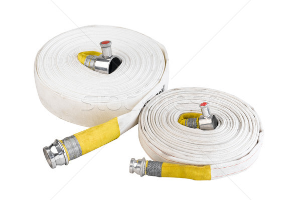 fire hoses water tube for connecting to hydrant in case of fire Stock photo © JohnKasawa