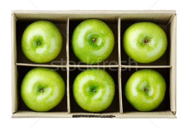 緑 リンゴ ボックス ボックス リンゴ 画像 ストックフォト © JohnKasawa