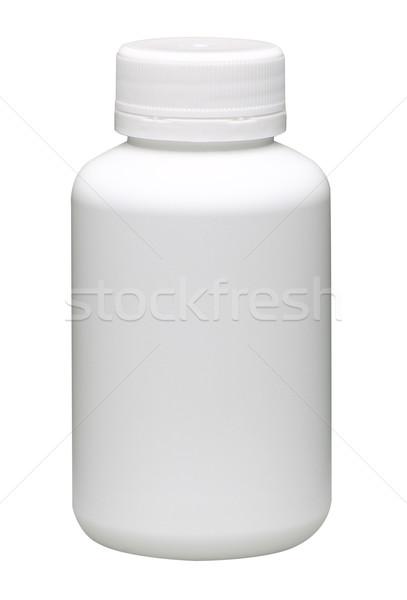 Vitaminen fles teken label geneeskunde Stockfoto © JohnKasawa