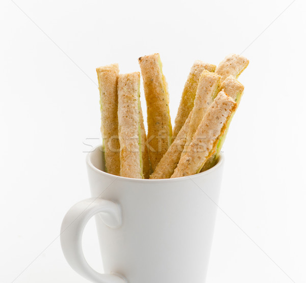 Brot Kaffeebecher groß Snacks leer mug Stock foto © JohnKasawa
