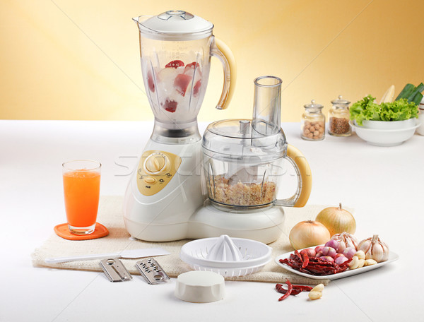 Vegetables blending machine on the kitchen  Stock photo © JohnKasawa