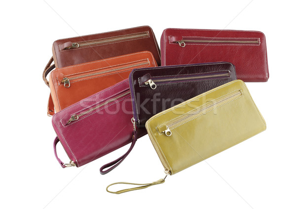 Woman wallets made of genuine leather arranges isolated Stock photo © JohnKasawa