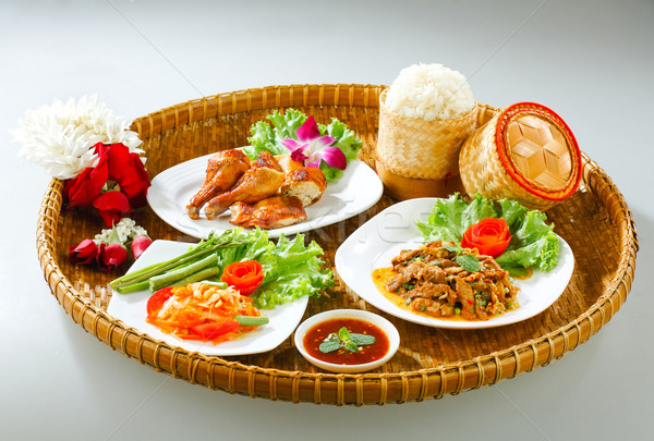 Thailand northeast region foods Stock photo © JohnKasawa