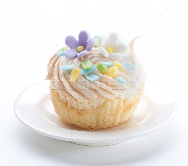 Minitorta desszert édes izolált edény cukrászda Stock fotó © JohnKasawa