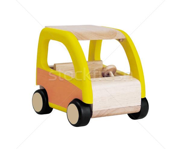 Ragazzi giocattolo di legno auto isolato bianco legno Foto d'archivio © JohnKasawa