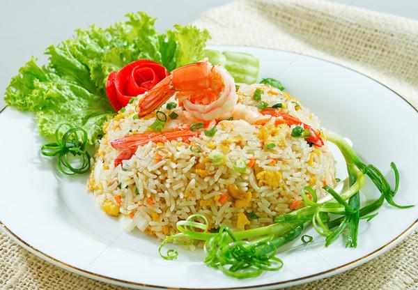Sült rizs Seattle garnéla ízlés ázsiai konyha Stock fotó © JohnKasawa