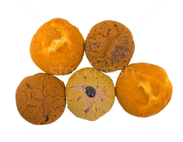 Fancy muffins view from the top isolated on white  Stock photo © JohnKasawa