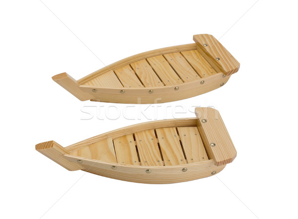 Stock fotó: üres · szusi · fából · készült · tálca · japán · étel · fa