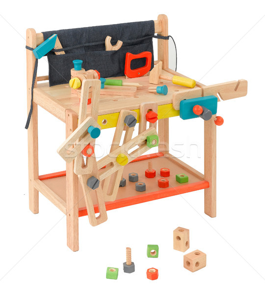Table workshop wooden toy for children with all of craftsman too Stock photo © JohnKasawa