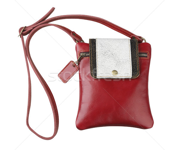 Vrouw leder portemonnee zak mooie gemak Stockfoto © JohnKasawa