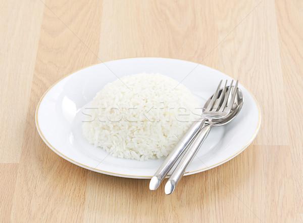 Ulubiony tajska ryżu naczyń energii widelec Zdjęcia stock © JohnKasawa