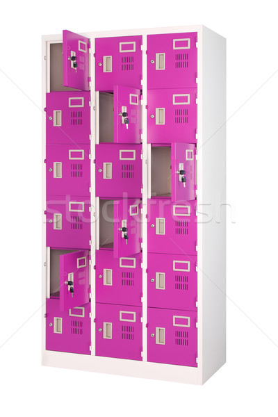 Beautiful violet lockers for all persons in the gym room or at s Stock photo © JohnKasawa