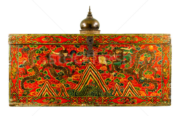 The ancient tibet fine painting carving box Stock photo © JohnKasawa