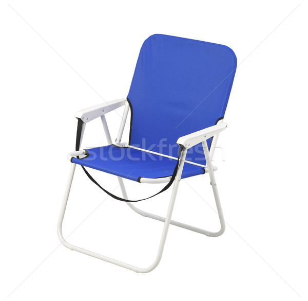 Nice blue chair for indoor use or outdoor camping  Stock photo © JohnKasawa