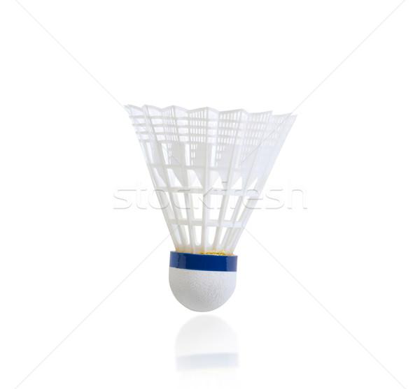Badminton piłka towary odizolowany biały sportu Zdjęcia stock © JohnKasawa