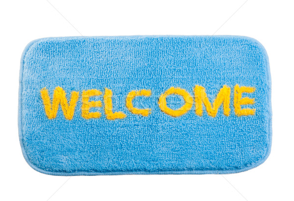 Stock photo: Nice welcome cleaning foot mat isolated