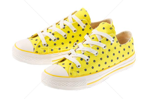 Renkli sarı ayakkabı yalıtılmış moda spor salonu Stok fotoğraf © JohnKasawa