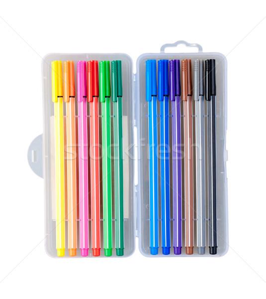 Nice colorful pens isolates on white background  Stock photo © JohnKasawa