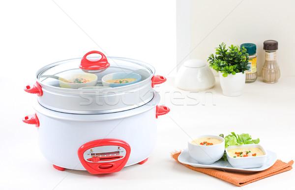 Elektrik pot yararlı mutfak gereçleri Metal sıcak Stok fotoğraf © JohnKasawa