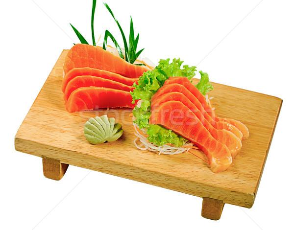 Salmão mini banco pronto comida japonesa Foto stock © JohnKasawa
