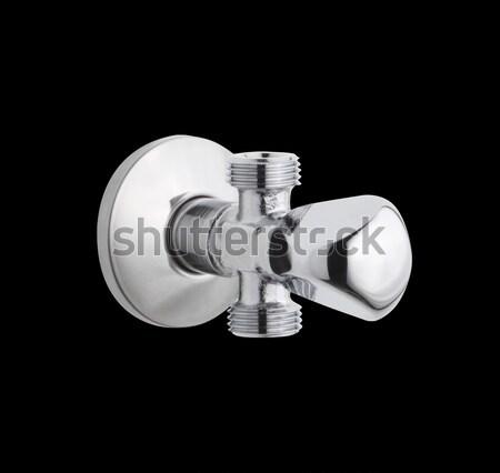 Chrome faucet the bathtub accessories isolated on white Stock photo © JohnKasawa