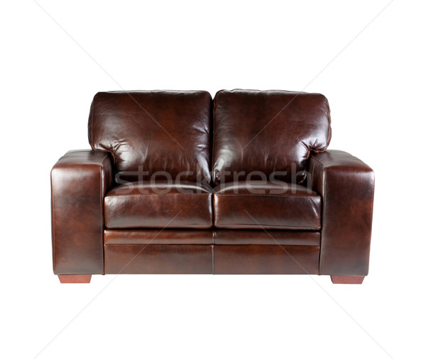 Mooie comfortabel luxe ontwerp leder sofa Stockfoto © JohnKasawa