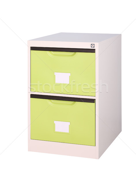 красочный ярко зеленый шкаф хранения Сток-фото © JohnKasawa