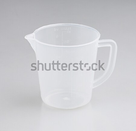 measuring transparent cup isolated on white Stock photo © JohnKasawa