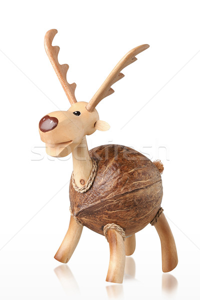 Cute handicraft wooden deer piggy bank  Stock photo © JohnKasawa